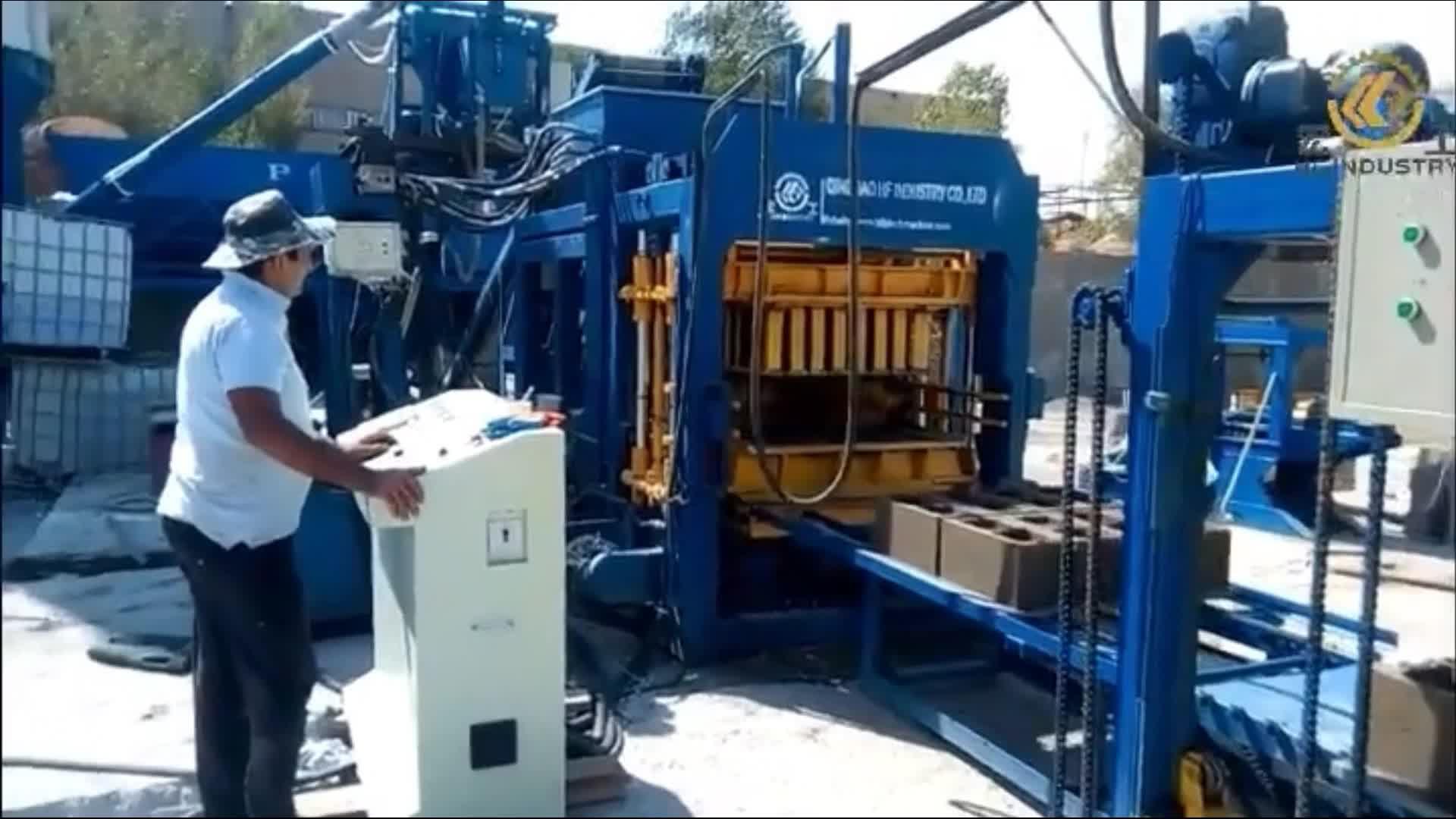 Cemento cava creazione di blocco macchina QT8-15 interlock finitrice per fabbricare i mattoni prezzo della macchina