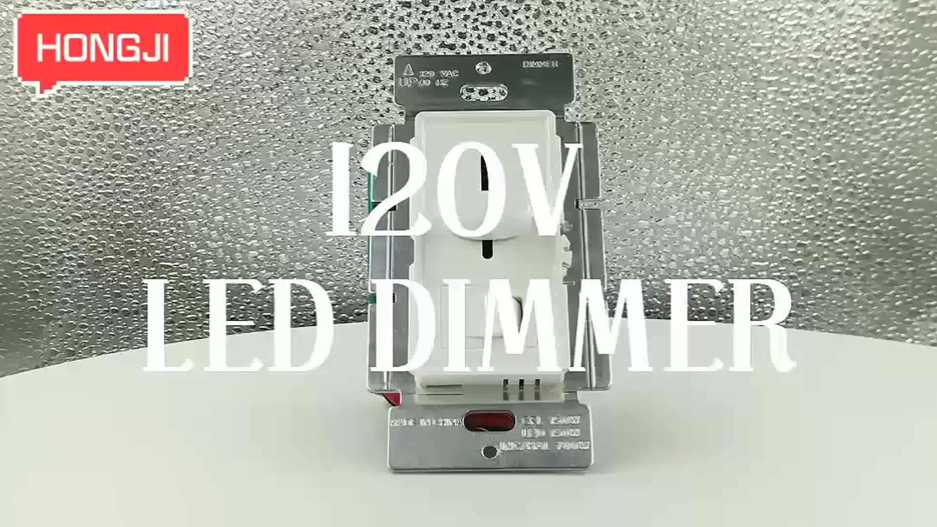 三方 120VAC 60 60hz スライド led 調光器スイッチ 150 ワット調光対応 LED で使用/CFL 700 ワット白熱