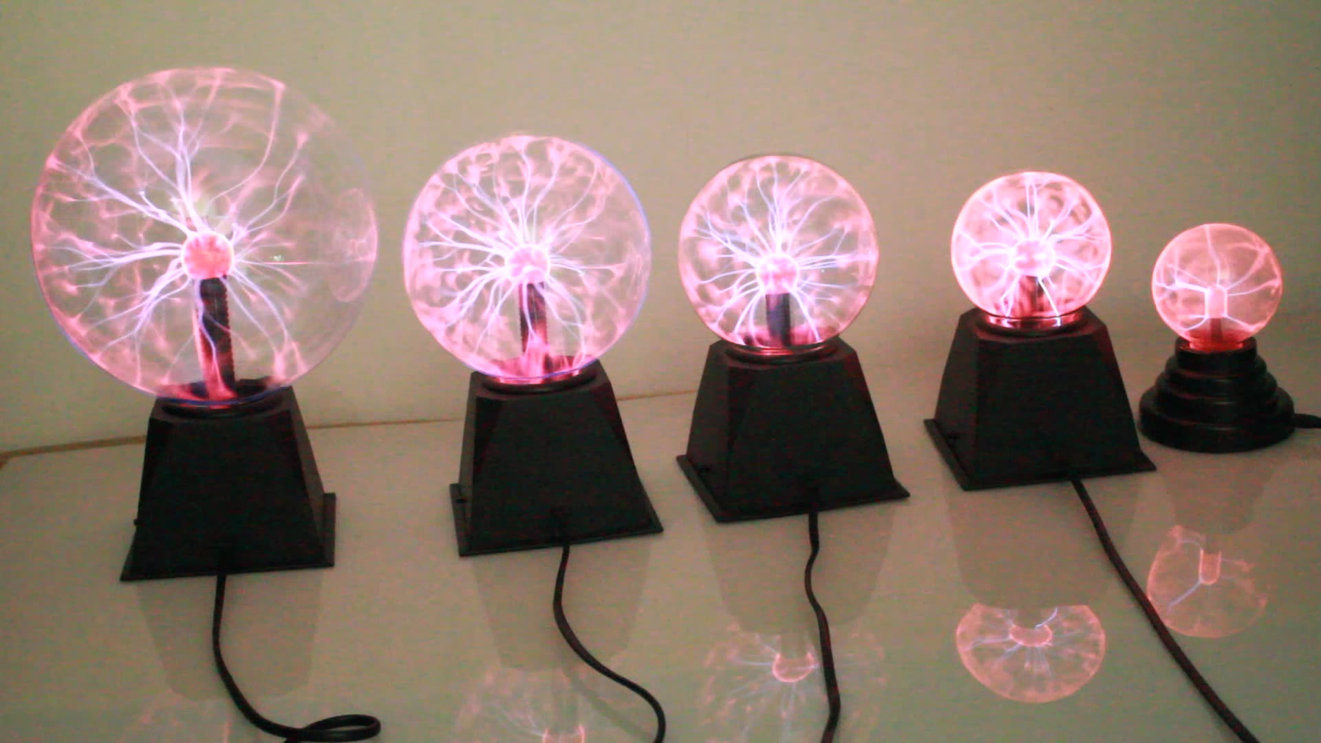 3 4 5 6 8 inch USB Plasma Ball, Magic Ball, led light magic spinning ball