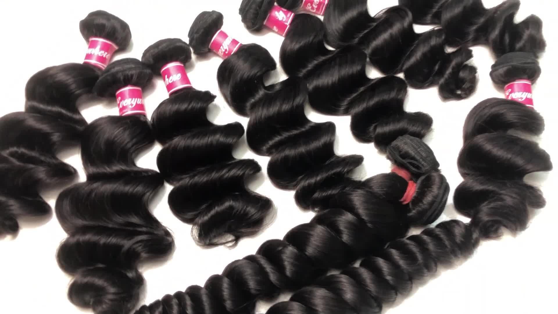 Gratis monster haar bundels ruwe maagdelijke cuticula uitgelijnd haar, menselijk haar weave bundel, groothandel dubbele getrokken 10a virgin hair vendor