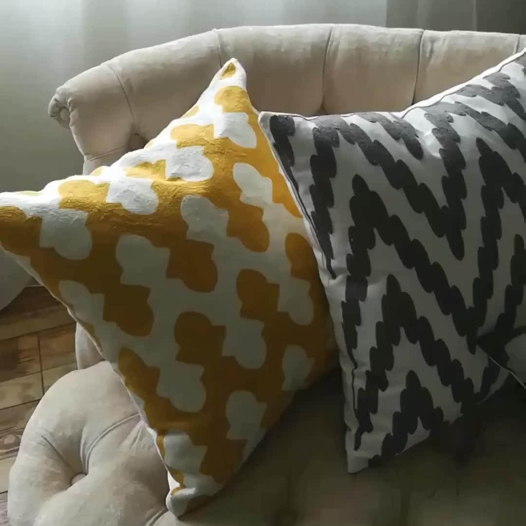Monad 中国サプライヤー綿 100% の正方形手作り幾何エスニックキリム刺繍クッションカバー家の装飾