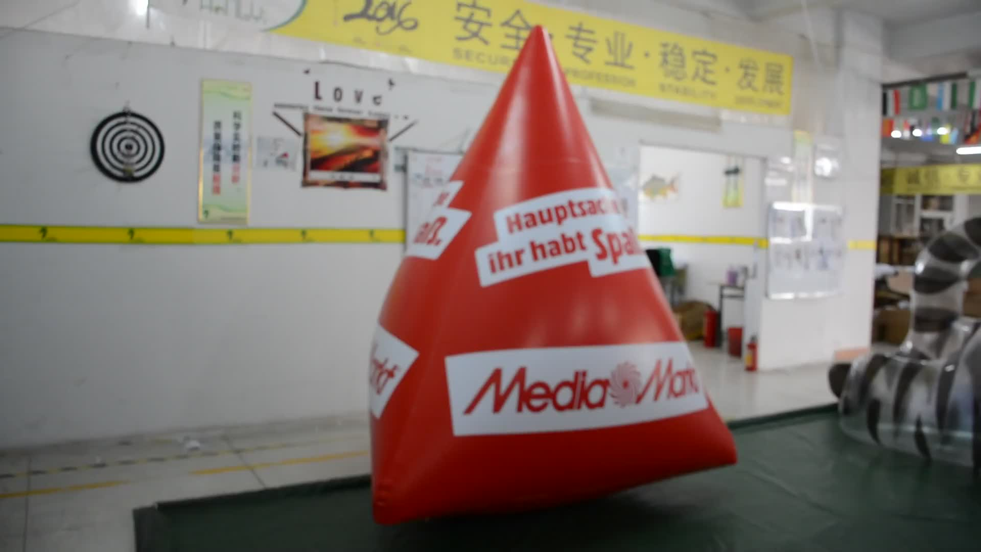 Customized PVC Inflatable Floating Buoy With Logo Cone Shape Advertising Water Products Buoy For Water Games