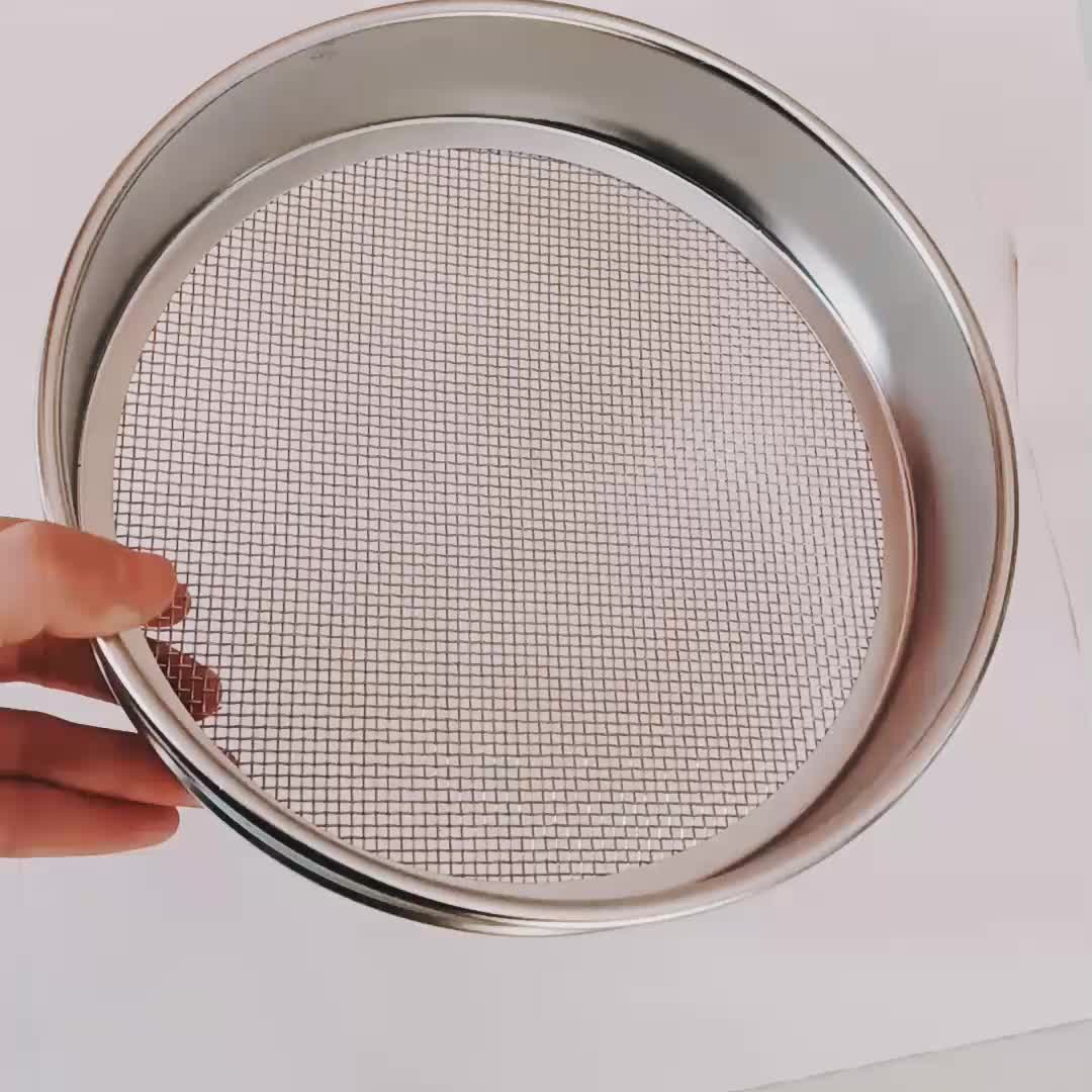 AISI 316L stainless steel mesh ring sieve