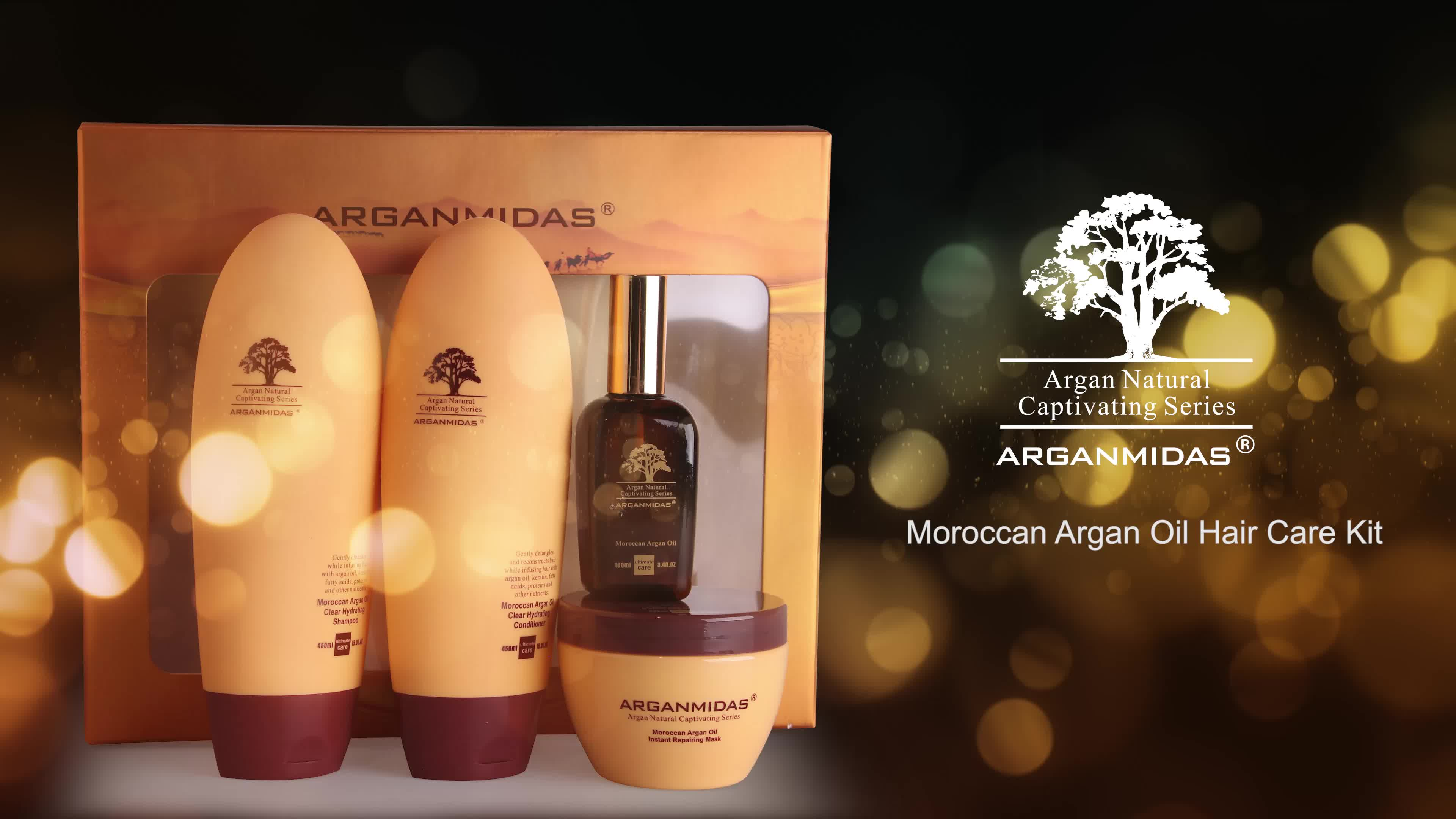 OEM Private Label Travel Moroccan Hair Shampoo And Conditioner Hair Care Products Set