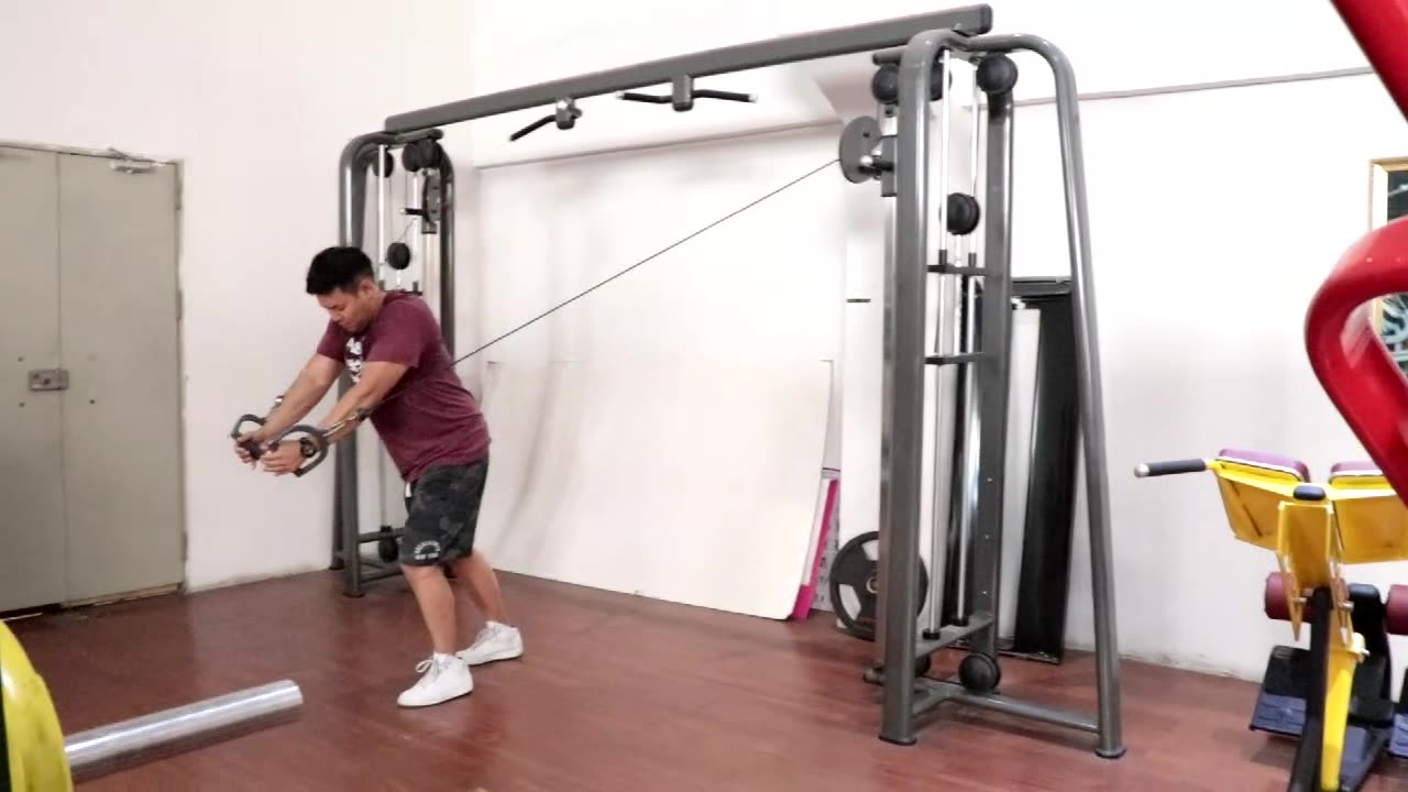 LJ-5536-8 Adjustable commercial japanese gym equipment functional trainer cross cable machine gym
