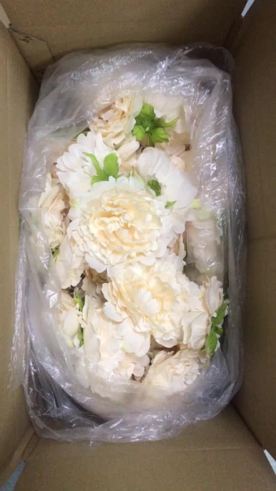 Flor de cabeças de peônia seda toque artificial real