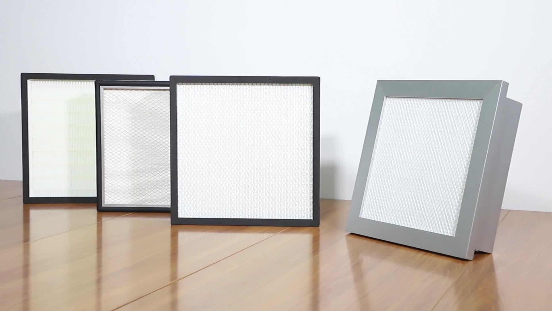 Air filter mini pleated hepa panel filter with aluminum frame