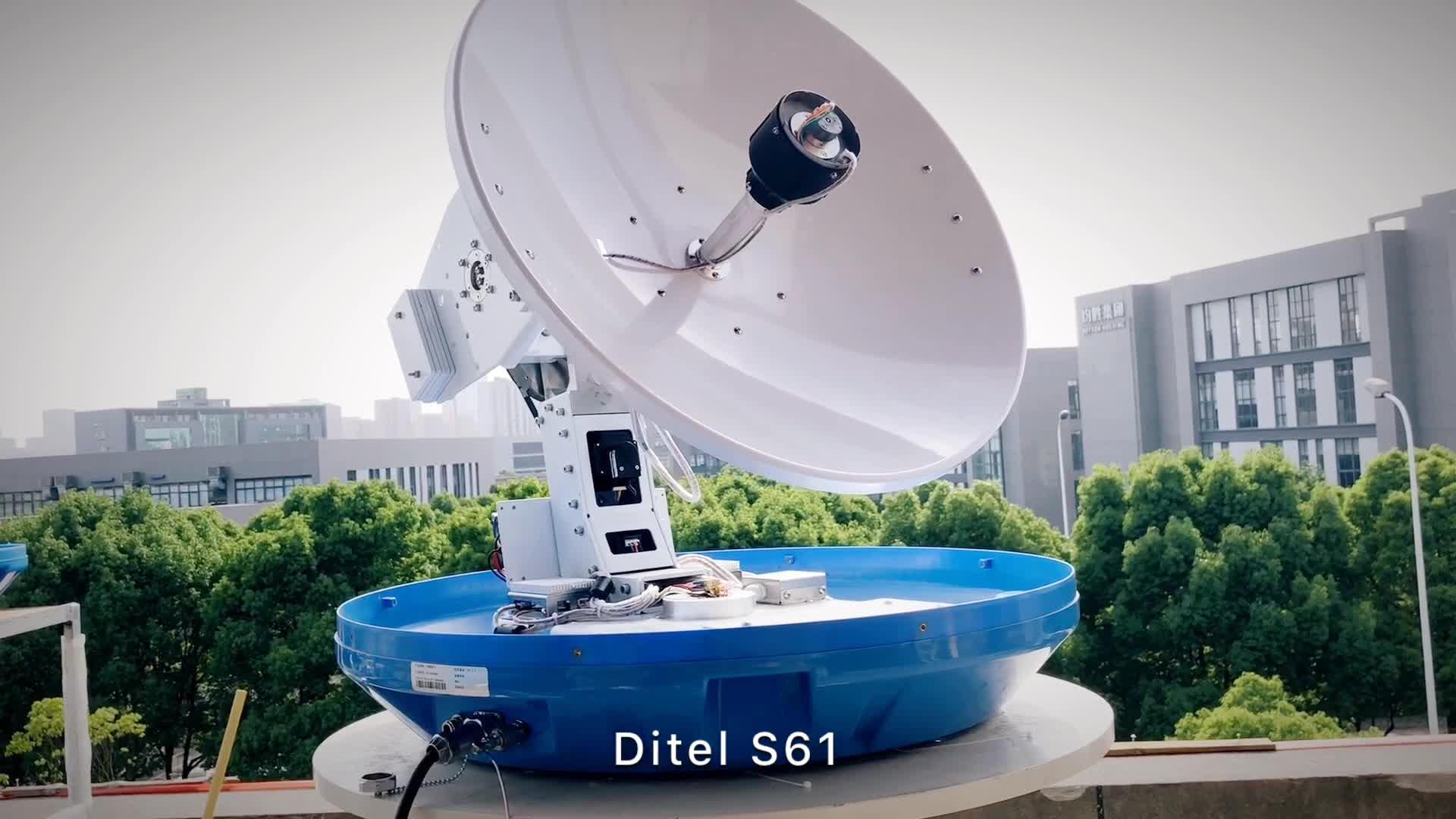 Ditel S61 Europlug outdoor 63cm clear wireless marine satellite tv hdtv digit antenna digital receiver auto for television
