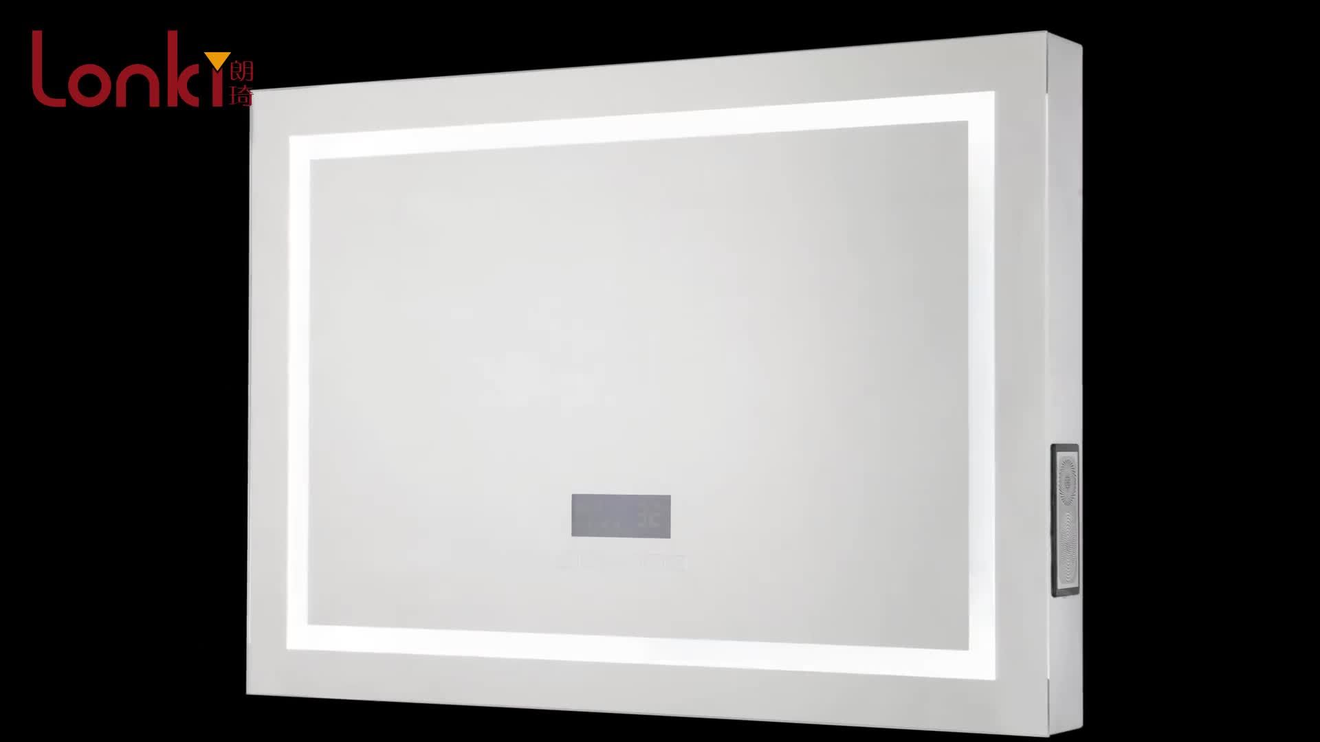 Tunnel touch switch led bathroom mirror with different colors lighting