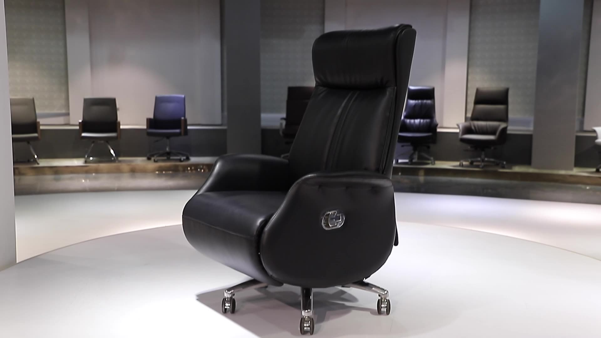 Comfortable Home Furniture PC Office Swivel chair speicification with headrest and footrest