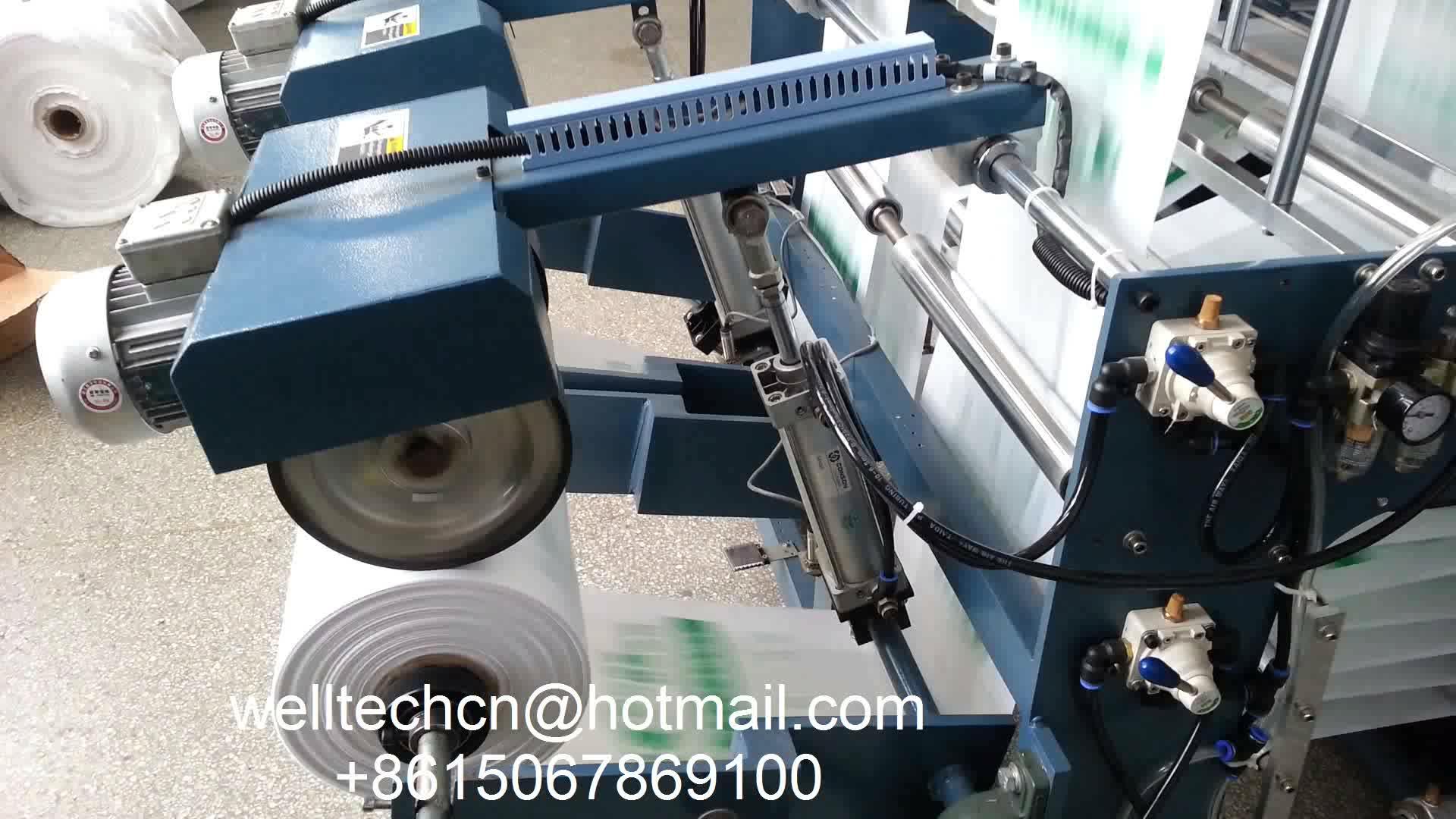 Best Sealing And Cutting Machine Small Shopping Plastic T-shirt Bag Making Machine Price