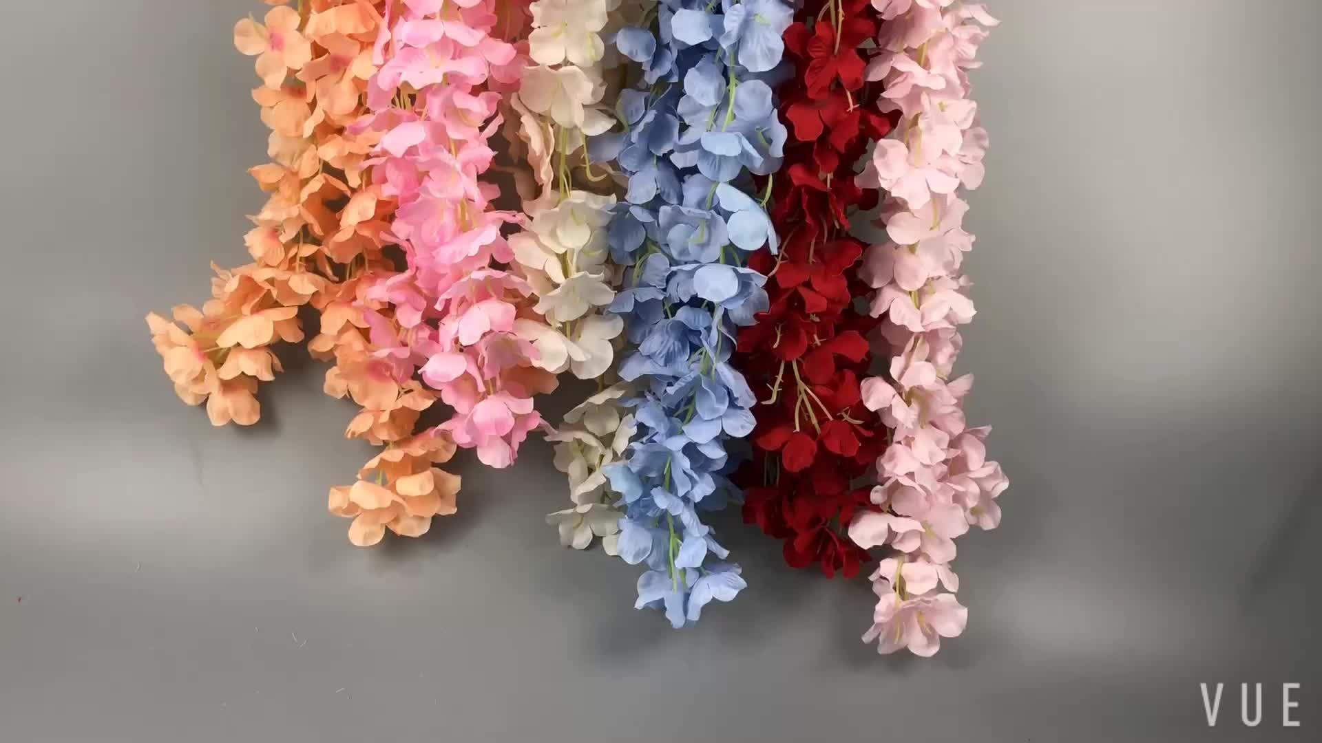 Fase de Casamento de Fábrica Por Atacado de Seda Artificial flor pendurada Wisteria 3 splits Flor para a Festa de Casa Jardim Decorativo
