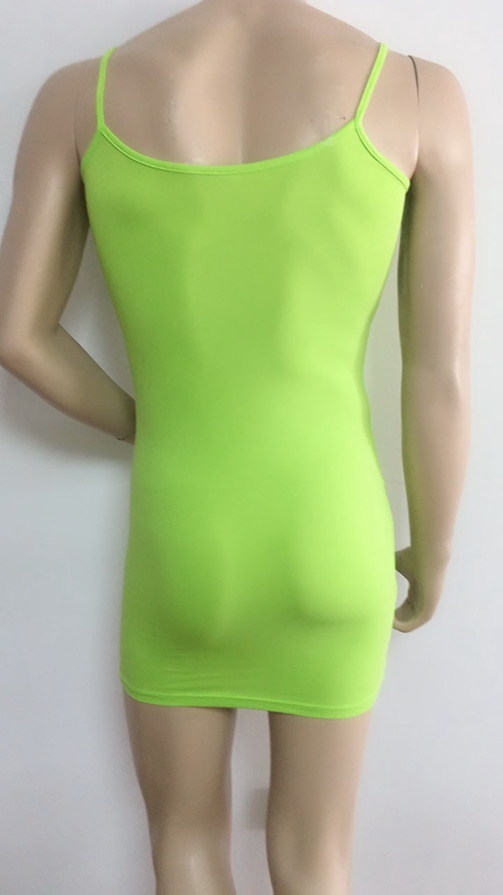 95% cotton 5% spandex Summer Women Sexy Bandage Bodycon Dress Casual Sleeveless Party Club Mini Spaghetti Strap Dress