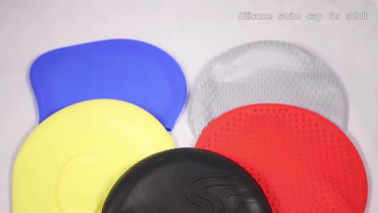 Custom Waterproof Long Hair Silicone Swimming Caps For Lady