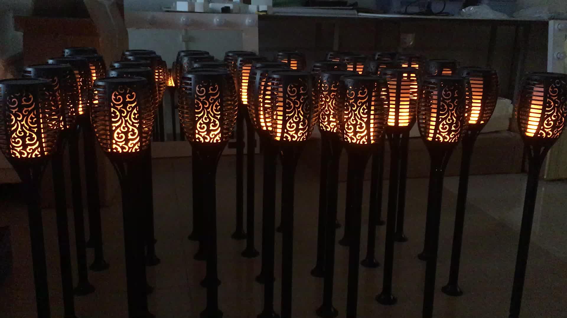 Extérieur LED scintillement jardin lumière solaire flamme torche lumière