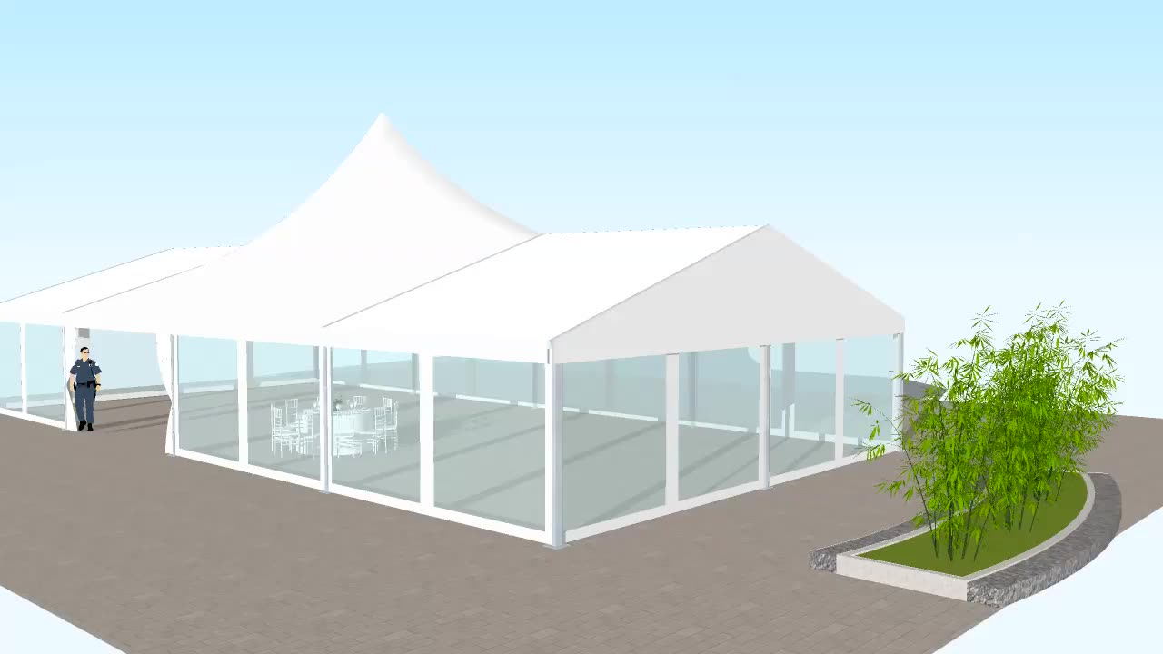 Economic event party tent churches with long lifespan