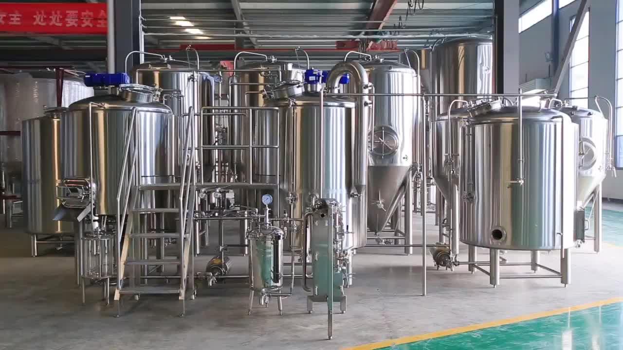 200L, 500L, 1000L, 1500L, 2000L पक उपकरणों का इस्तेमाल किया बिक्री के लिए प्रकाश बीयर उत्पादन संयंत्र टर्नकी शराब की भठ्ठी पक उपकरण