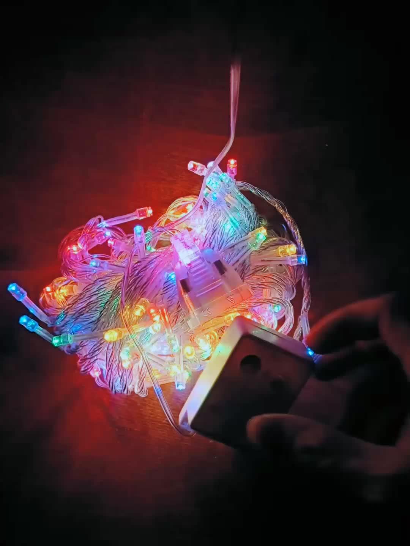 Lojas de fábrica 220 volts 100LED luzes da corda de natal por atacado