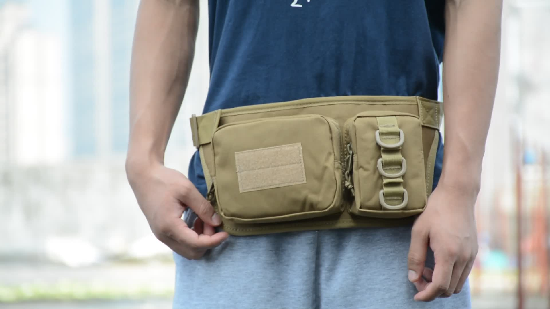 Tactical Waist Pack Portable Fanny Pack Outdoor Hiking Travel Large Army Waist Bag Military Waist Pack for Daily Life