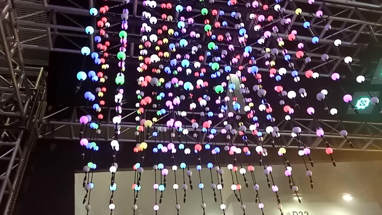 Led rgb do pixel dmx bola 3d dmx levou bola de luz ao ar livre à prova d' água levou bola, DMX tubo vertical