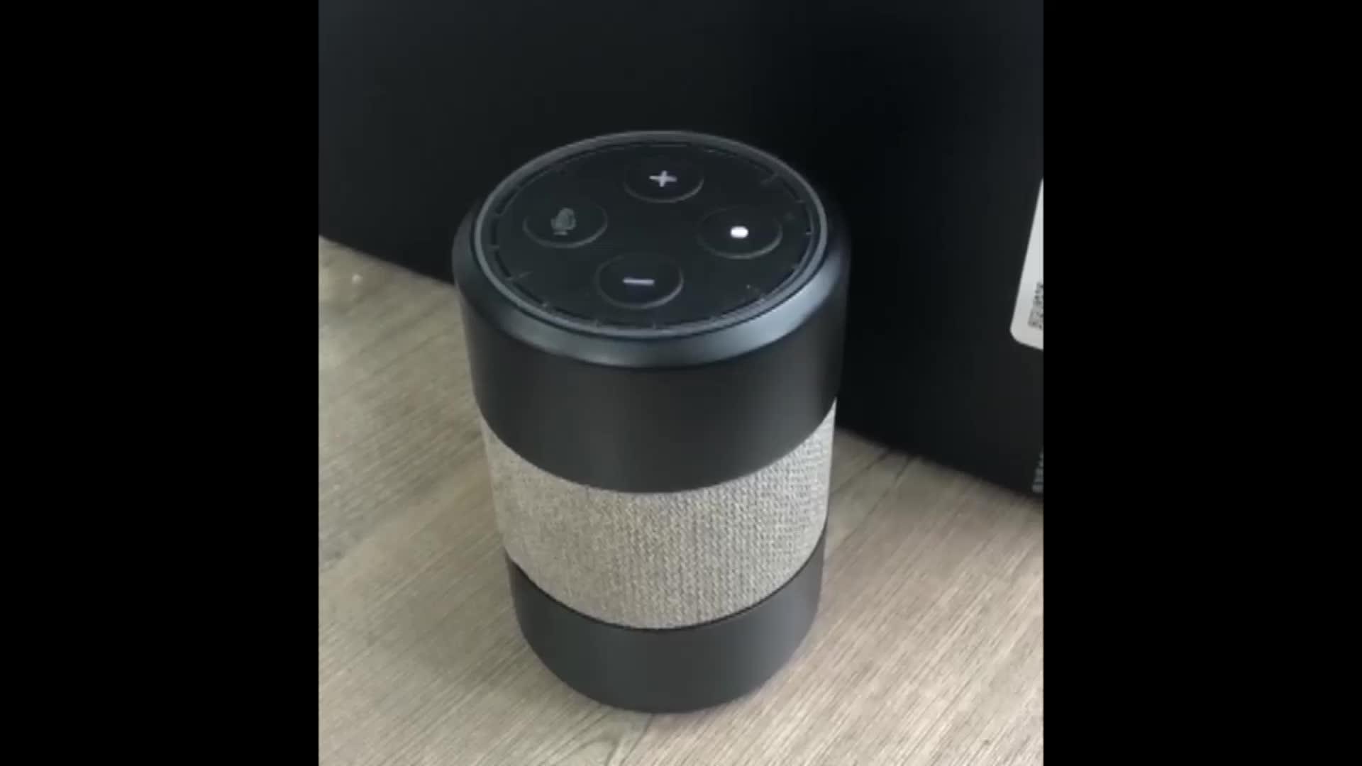 Altavoz inteligente alexa inalámbrico con subwoofer para exteriores, portátil, WiFi, AI, impermeable, con control de voz, estilo Eson