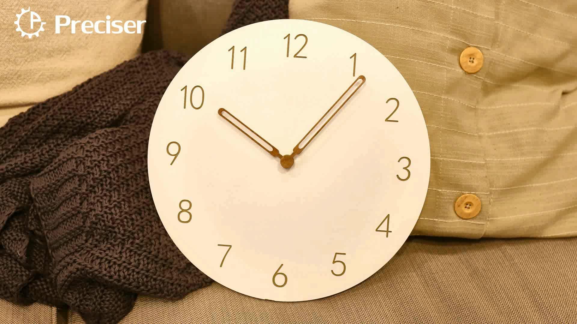 Preciser Pembuatan Custom Klasik Kayu Dekorasi Jam Dinding MDF Jam