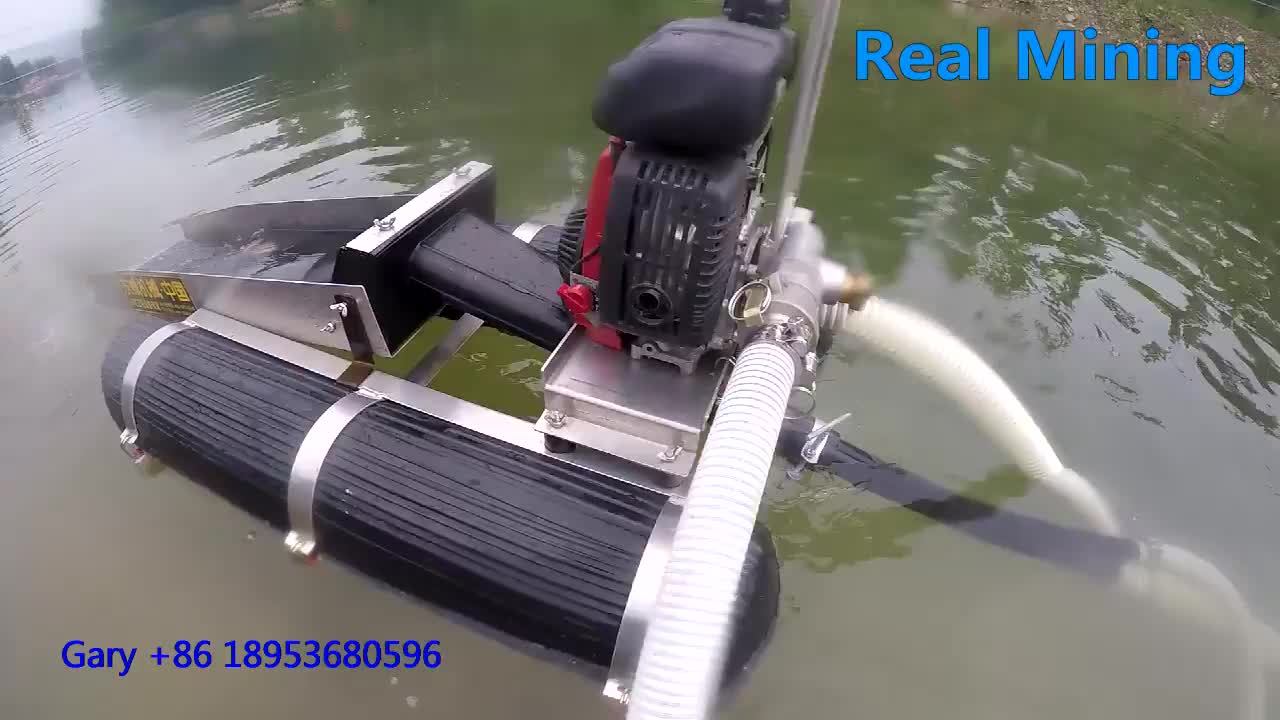 High efficient gold separating mini dredge for gold mining