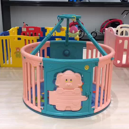 China wholesale children kids indoor safety play plastic baby round playpen colorful baby playard