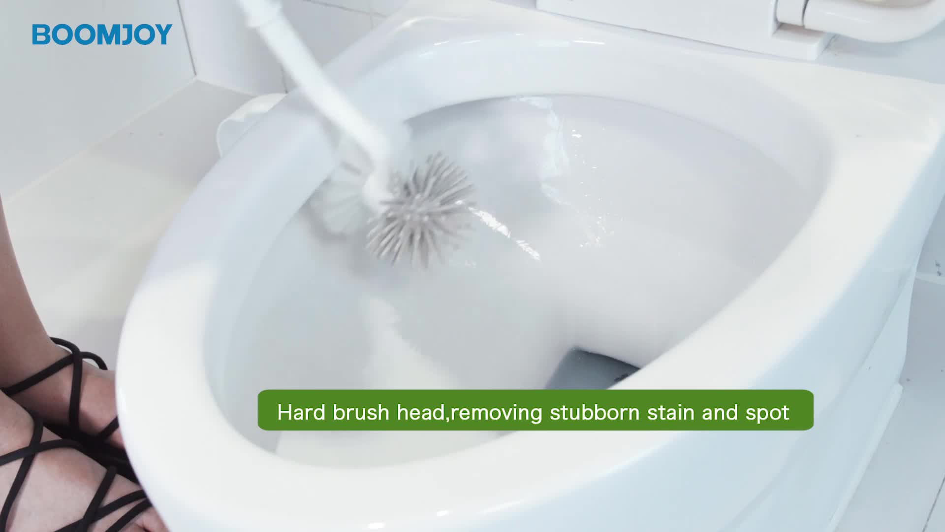 Boomjoy Double sided Cleaning Brush Drain Toilet Brush