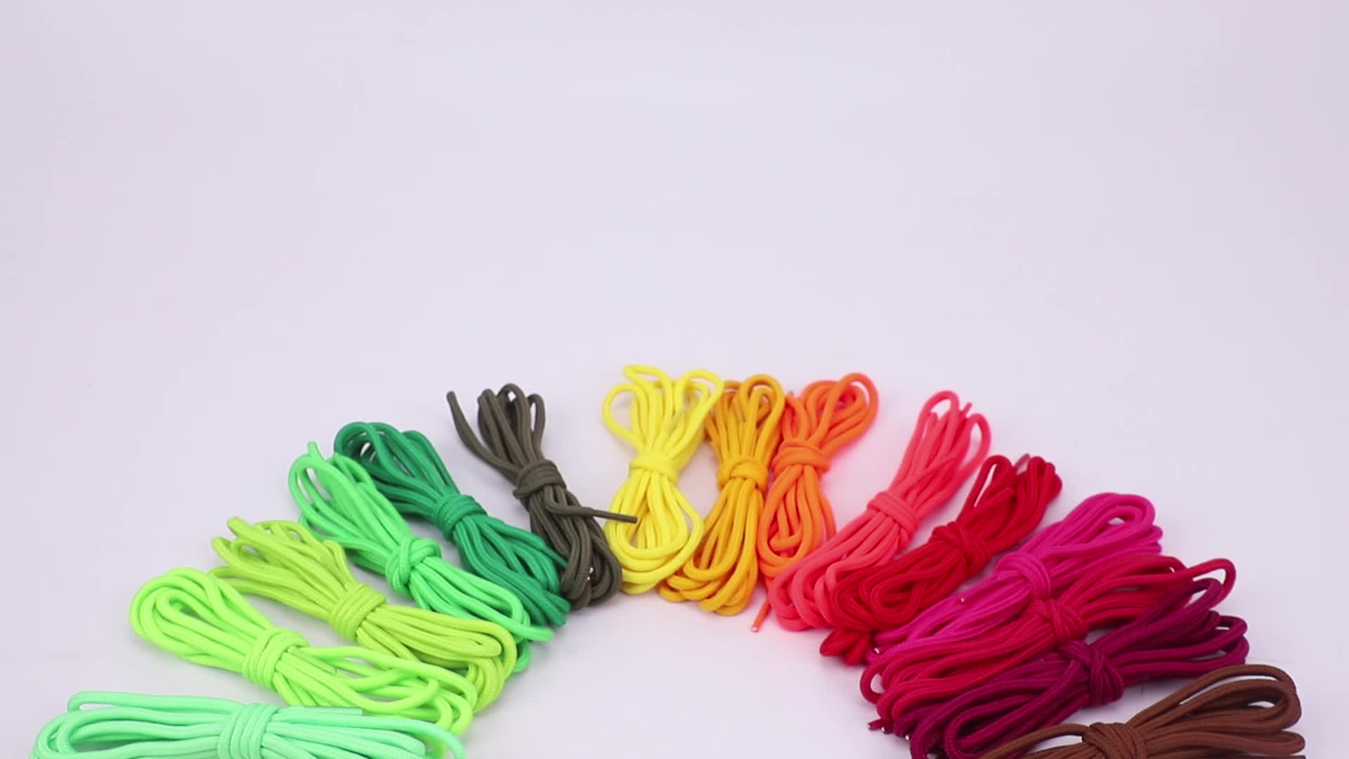 Round Shoelaces Assorted Colored 5mm Width Shoe Laces Strings for Sneakers Boots Skateboard Hiking Athletic Sport Shoes
