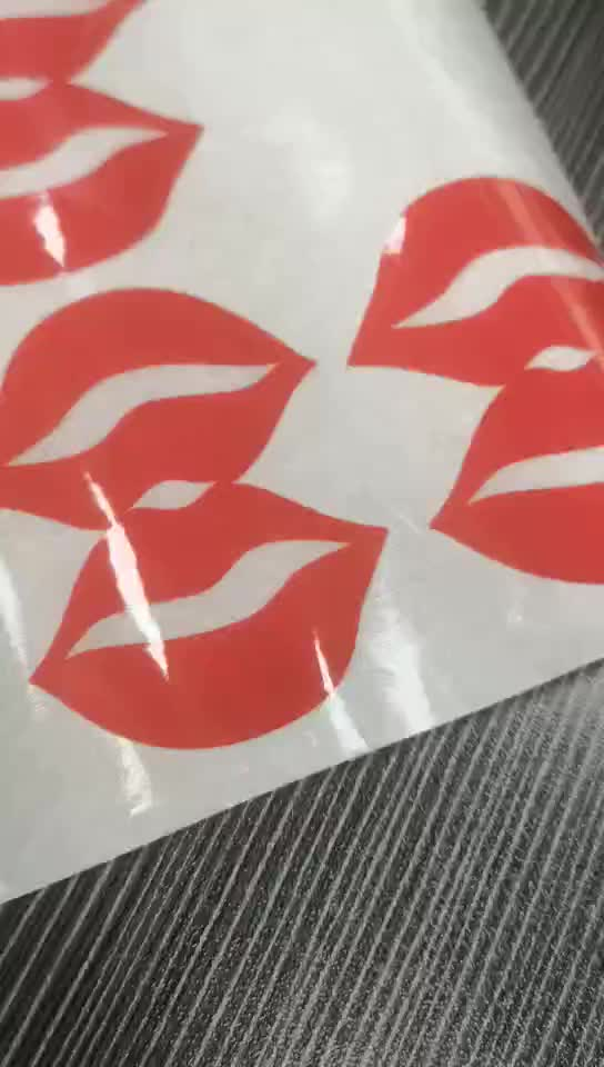 Transparent adhesive labels red mouth stickers