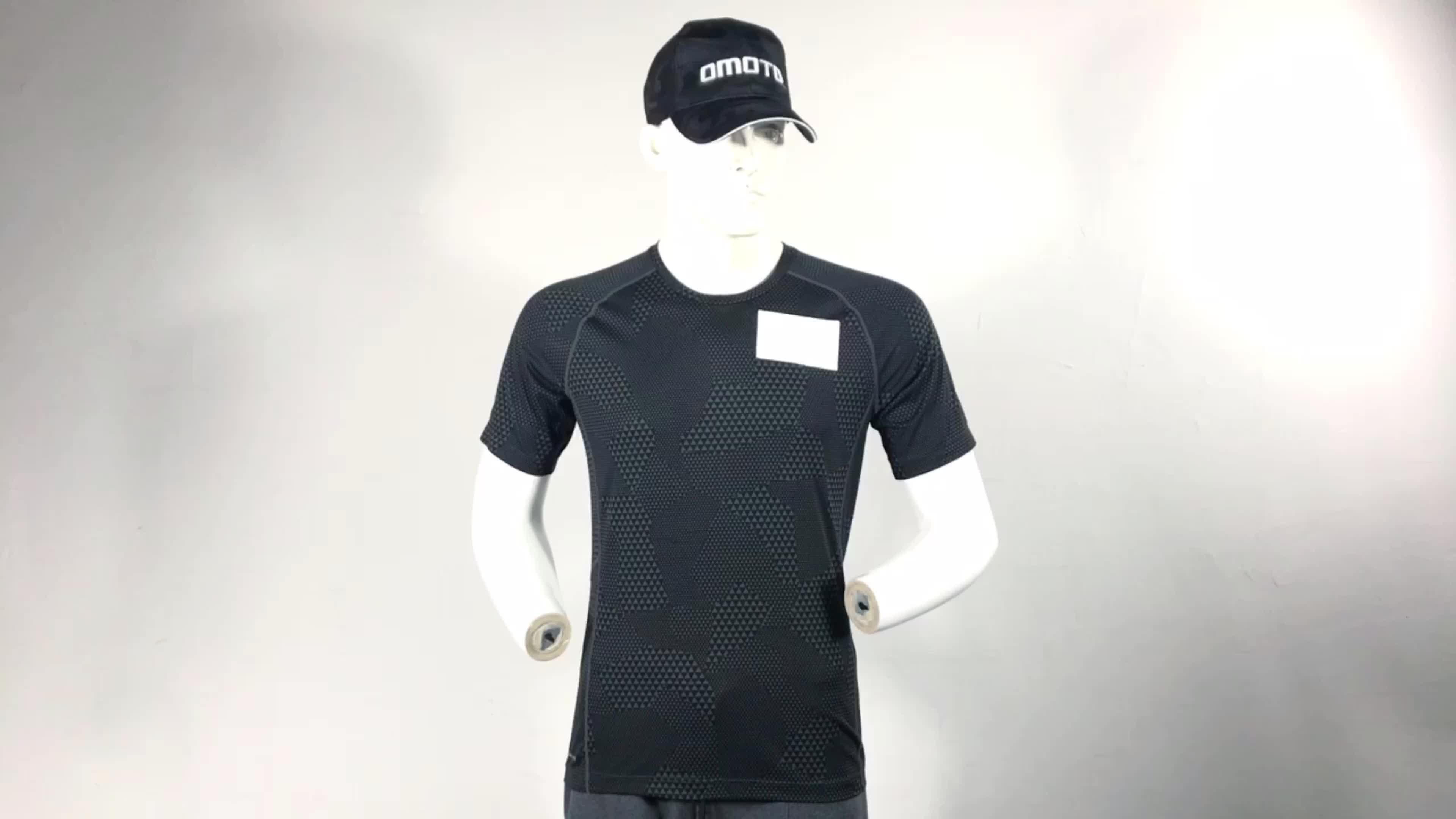 Özel slim fit gömlek mens spor giyim uzun kollu spor t gömlek