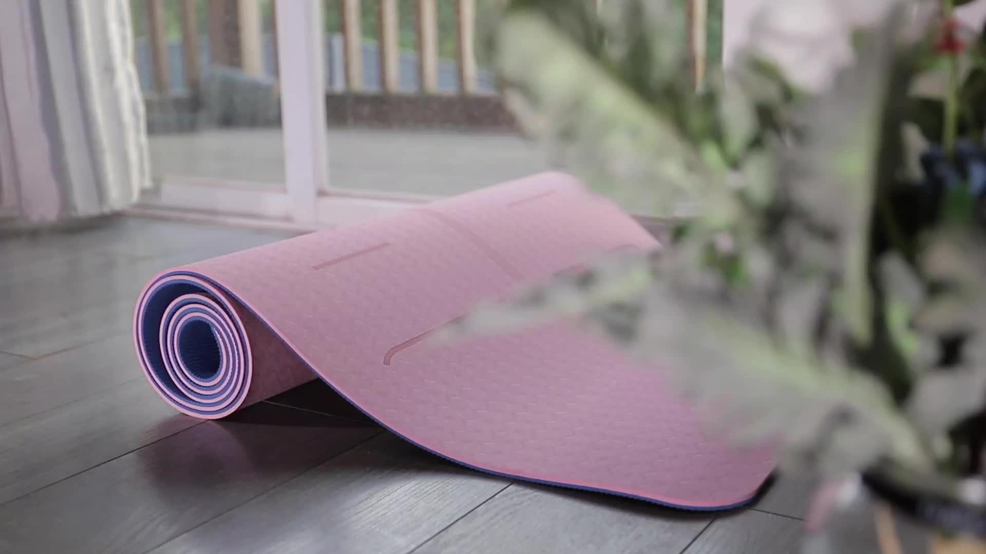 2017 विरोधी पर्ची गर्म योग चटाई, योग चटाई कस्टम पर्यावरण के अनुकूल, थोक व्यायाम मैट