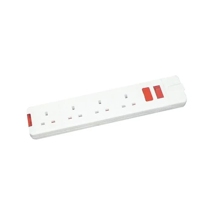 4 manier extension socket met licht en schakelaar UK