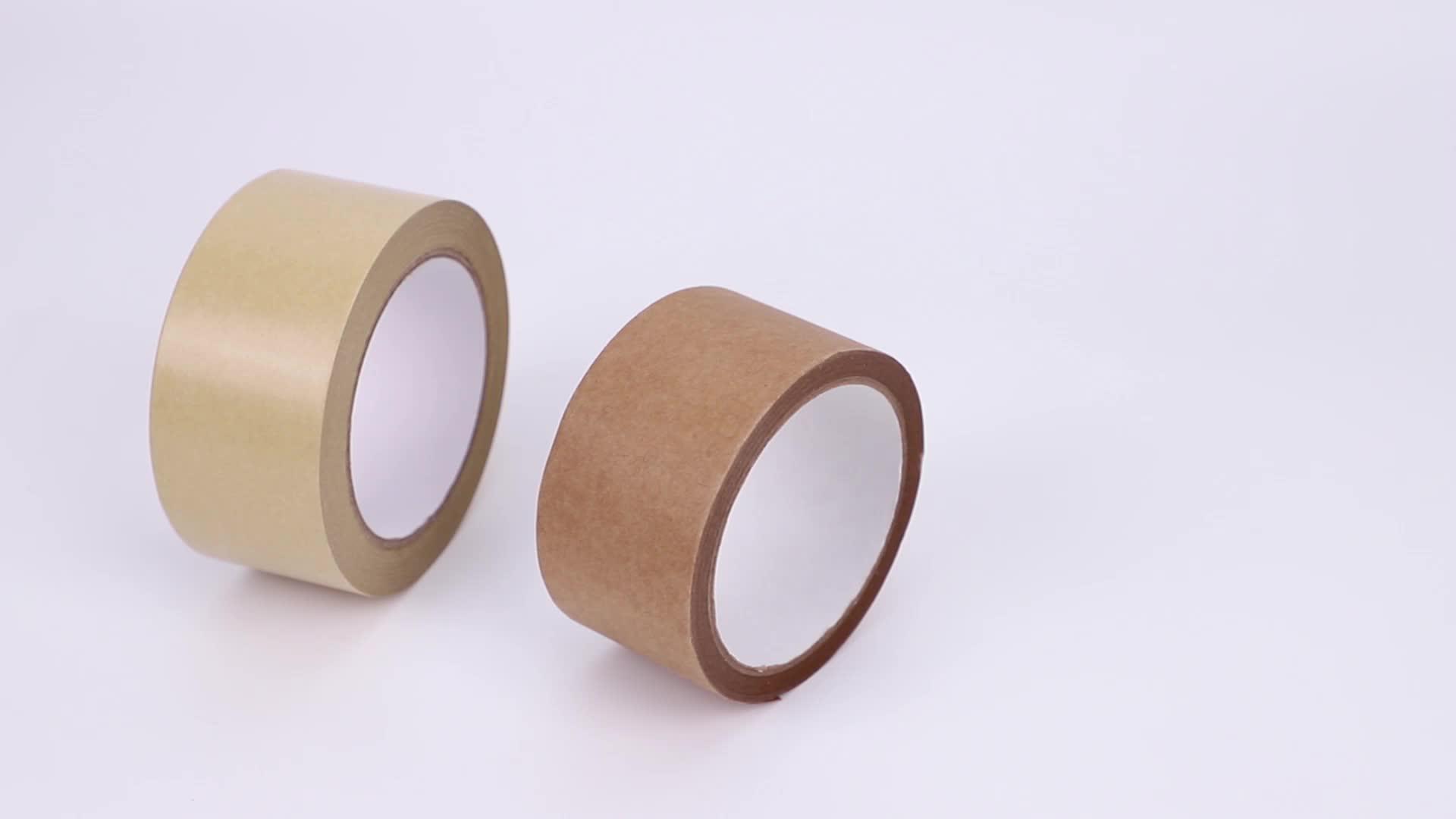 Ramah Lingkungan Self Adhesive Custom Kraft Paper Tape untuk Karton Penyegelan Karton Penyegelan