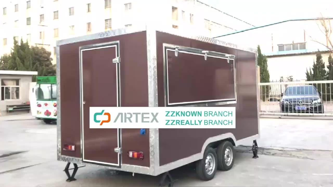 Cellulare Carrello di Cibo KN-400 In Acciaio Inox Ice Cream Carrelli Concessione Rimorchio Rimorchiabile Cibo Camion per la Vendita