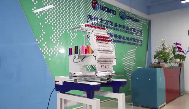 Commercial Single Head Tubular Embroidery Machine Computerized with Touch Screen for Cap/ Flat/T-Shirt /Cross-Stitch Embroidery