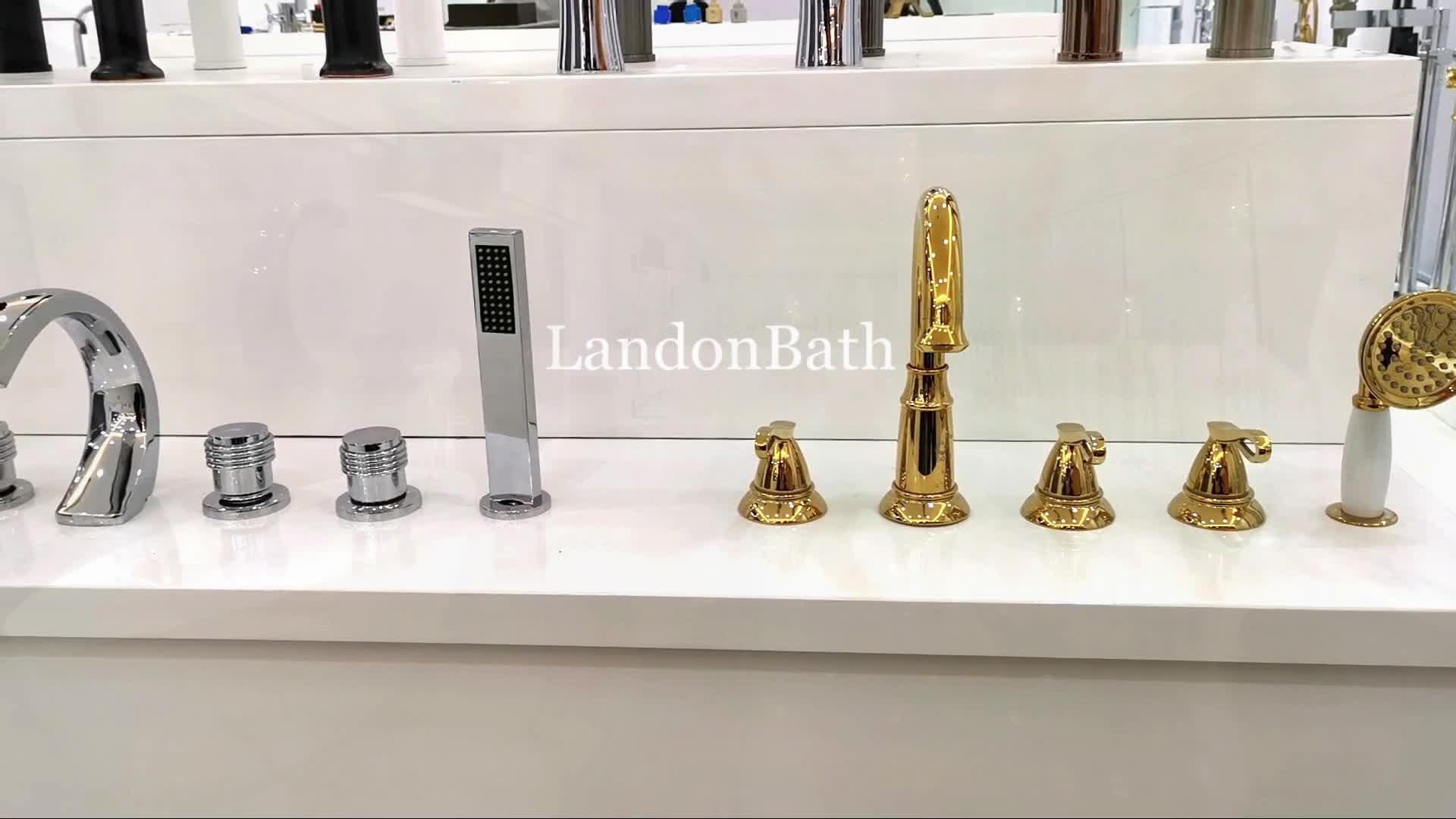 cUPC Watermark Brass Freestanding Bathtub Faucet With Diverter