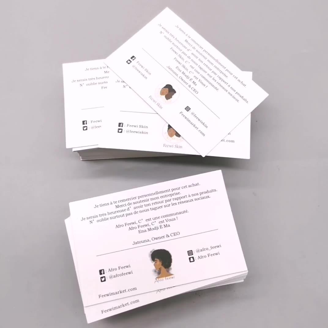 A Impressão Do Logotipo personalizado de Alta Qualidade de Negócios Obrigado Cartão de Convite