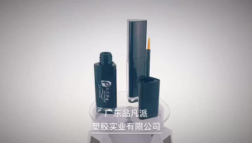cosmetic packaging triangle empty eyeliner tube container with mirror
