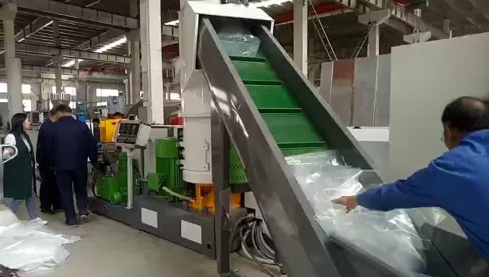 PP PE film Plastic pelletizing machine granulating machine with Compactor