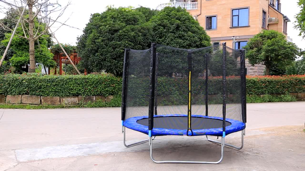 LARGE TRAMPOLINE JUMP SAFETY ENCLOSURE NET OUTDOOR ENTERTAINMENT BEST GIFT  FOR CHILDREN KIDS