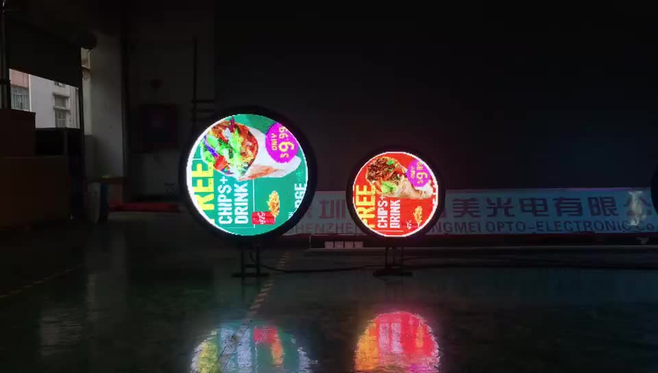 P6 Middle Double-sided circular led / Outdoor 360 degree round shape led light boxes display screen