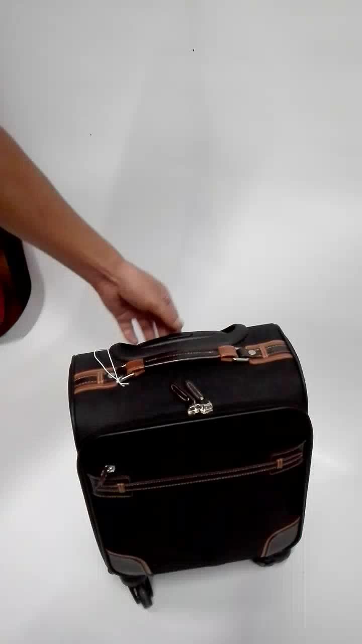 Personnalisé 14 pouces 18 pouces 22 pouces étanche Flight Case, sac de bagage de bagage de voyage avec chariot en aluminium ABS poignée JM-BHK01