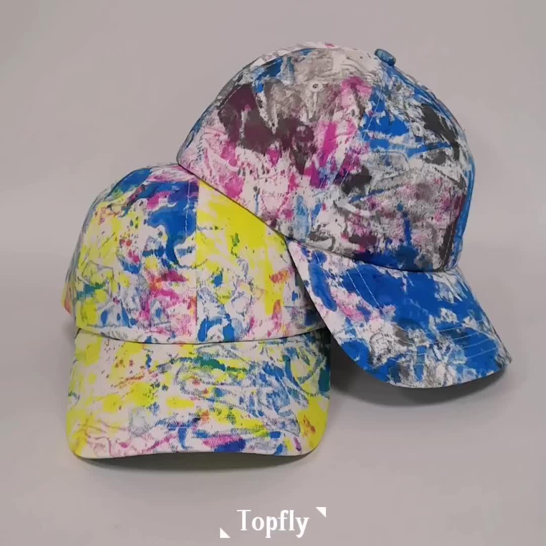 Мода унисекс Multi цвет Tie Dye хлопчатобумажная бейсболка производитель шляпы