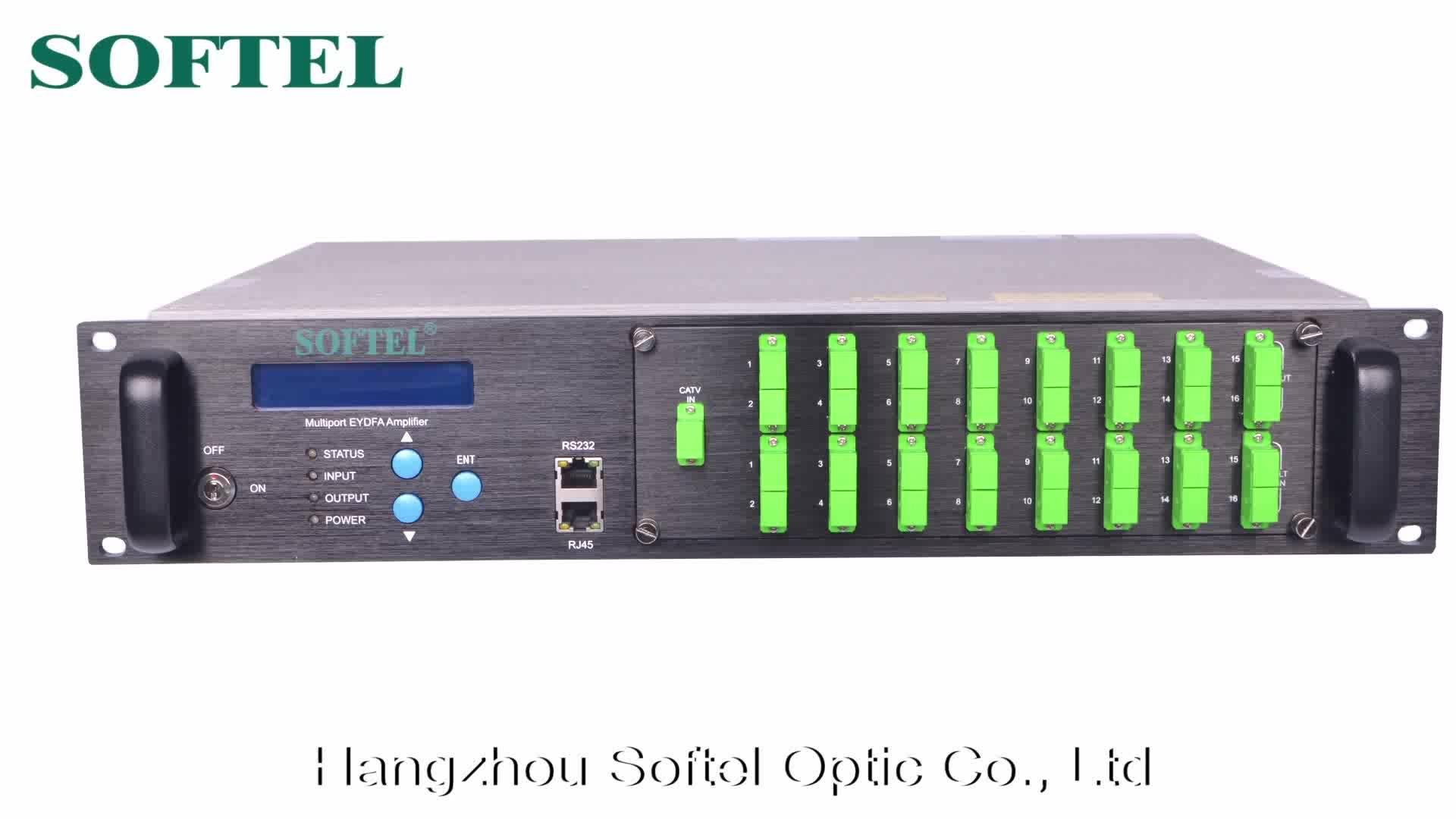 16 Output EDFA 1550nm Fiber Optical Amplifier 20dB