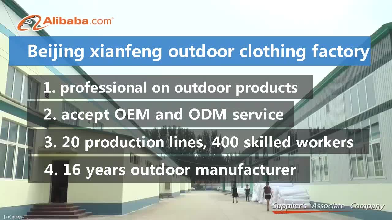 Sports de plein air en nylon fait sur commande matériel imperméable vêtements de ski coupe-vent