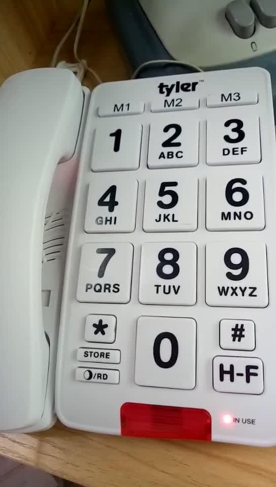 Grote Knop Vaste Telefoon voor Ouderen met Caller ID Speed Dial Alarm Functie Vaste Telefoon voor Senioren