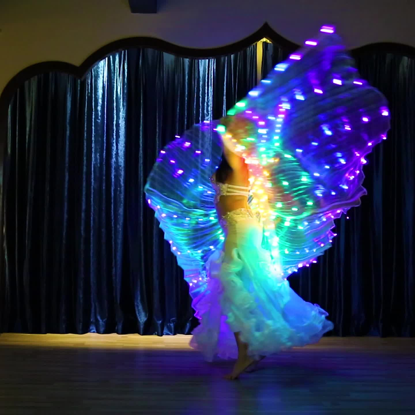 300 Leds Light UP Belly Dance Isis Wing For Ladies ,BellyQueen