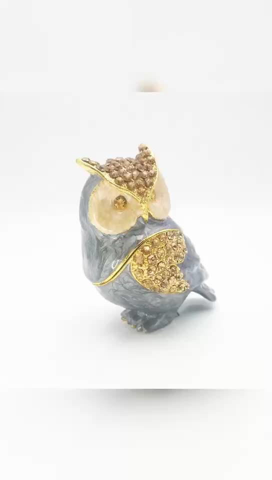 Personalizado de cristal de esmalte grabado Animal perro joyas caja de regalo caja de la baratija